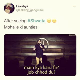 7 funny SHWETA MEMES Trending on Twitter, Instagram